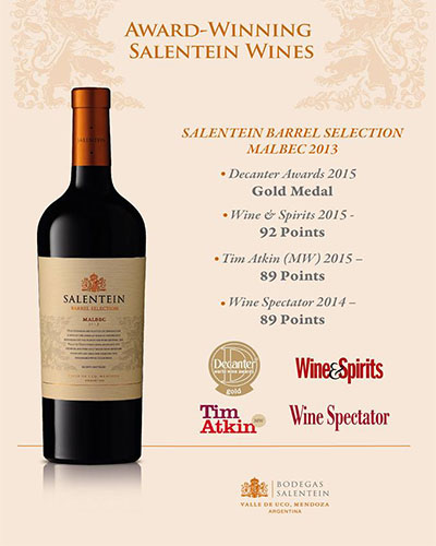 Rượu vang Salentein Barrel Selection Malbec