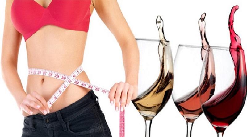 Uống rượu vang chống béo phì