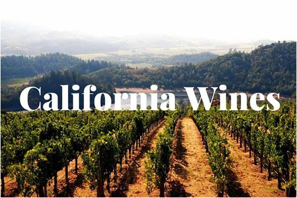 Vùng California nổi tiếng làm rượu vang Mỹ