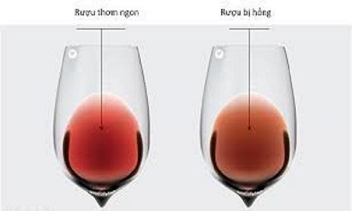 Cách nhận biết rượu vang hỏng