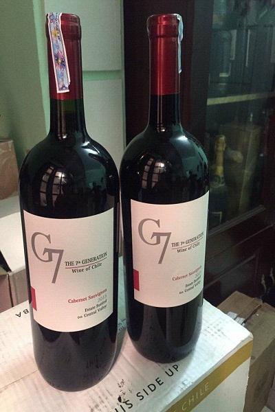 Rượu vang G7 Cabernet Suavignon