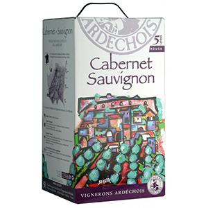 Rượu vang Bịch Ardeche Sauvignon 5L