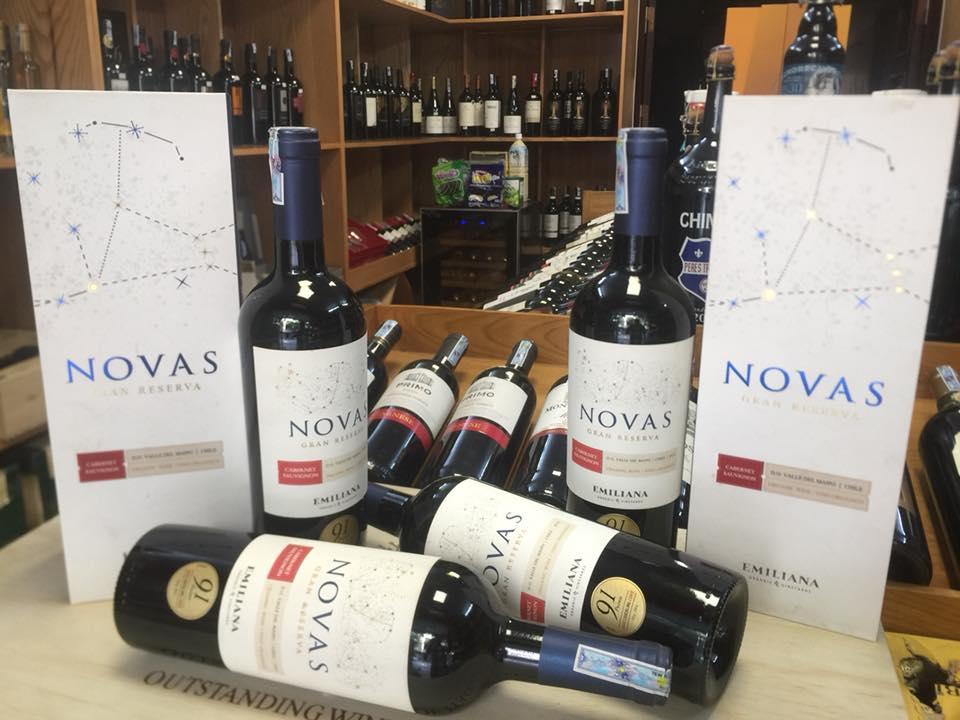 Rượu vang Chile Novas ngon giá rẻ nhất tại Hà Nội