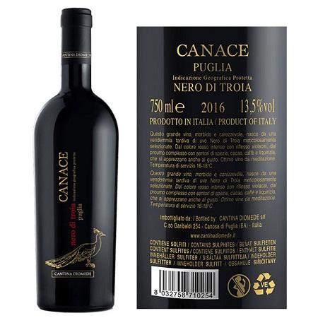 Rượu vang Ý Canace Nero Di Troia