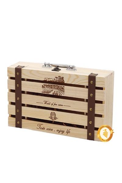 Hộp gỗ đôi đựng rượu vang