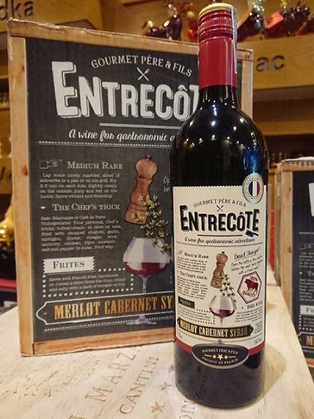 Rượu vang Pháp Entrecote Merlot Cabernet Syrah