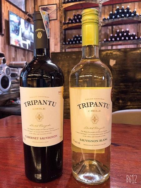 Rượu vang Tripantu đỏ trắng giá rẻ tại Hà Nội