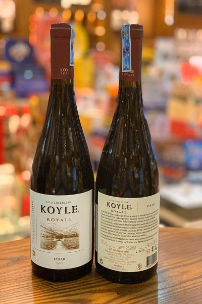 Rượu Chile Koyle Syrah giá tốt nhất Hà Nội