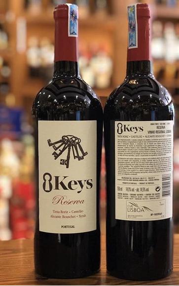 Rượu vang 8 keys Reserva Bồ Đào Nha