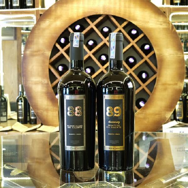 Rượu vang Ý 89 Anniversary Primitivo 16 độ