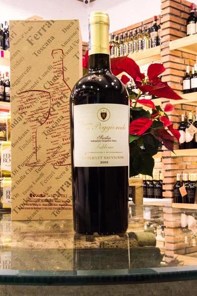 Vang Ý Duca Di Poggioreale Cabernet Sauvignon 2005 nhập khẩu
