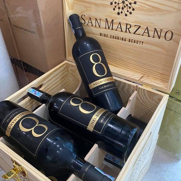 Rượu vang số 8 Negroamaro San Marzano giá tốt nhất Hà Nội