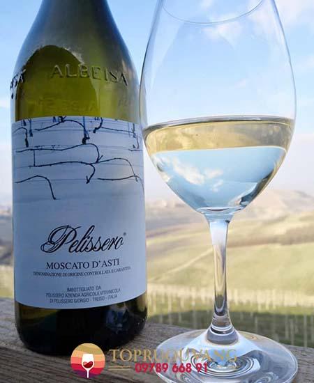 Rượu vang trắng ngọt Pelissero Moscato D'Asti 2 giá tốt