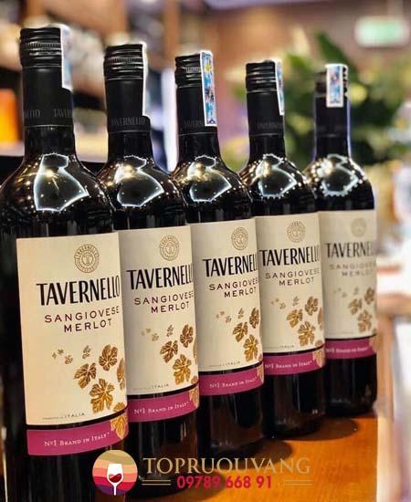 Rượu vang Tavernello Sangiovese Merlot Rubicone