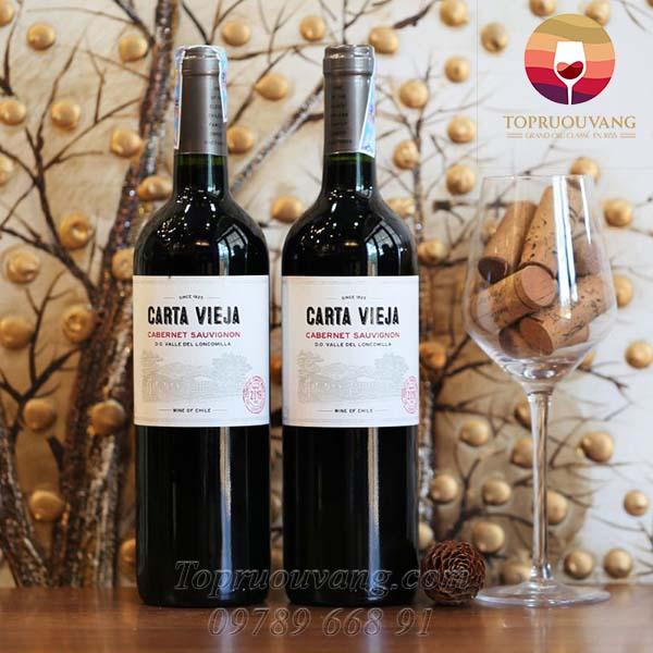 Rượu vang Carta Vieja Cabernet Sauvignon