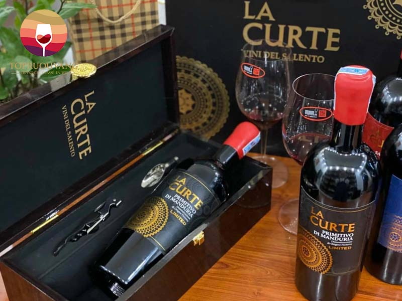Rượu vang La Curte Primitivo di Manduria Limited 19 độ