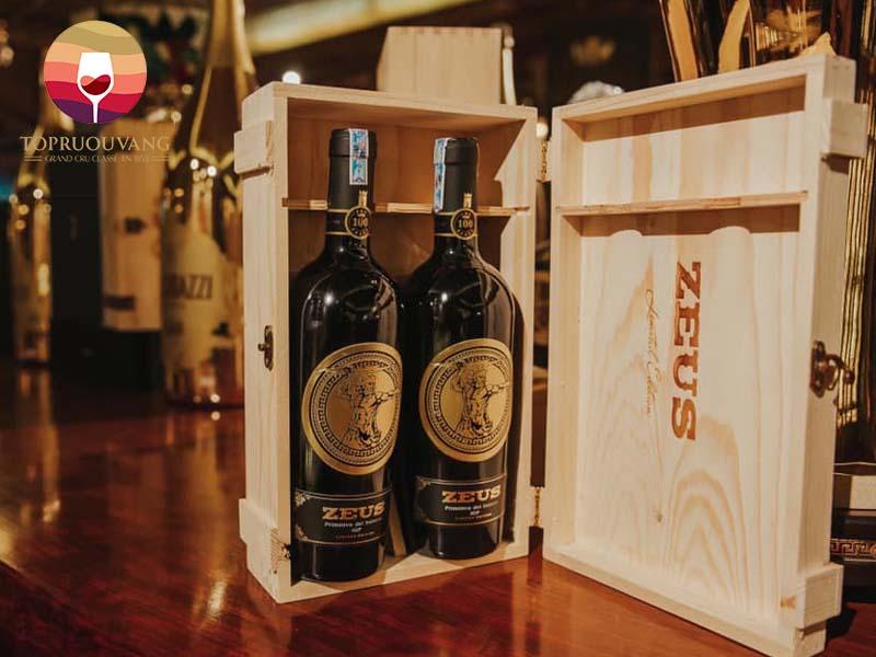 Rượu vang Ý Zeus Primitivo 19 độ
