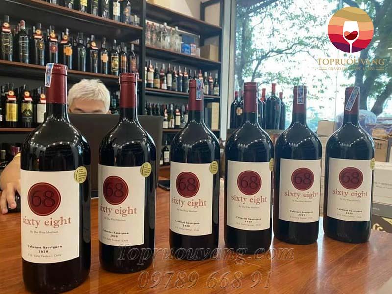 Rượu vang Chile Sixty Eight 68