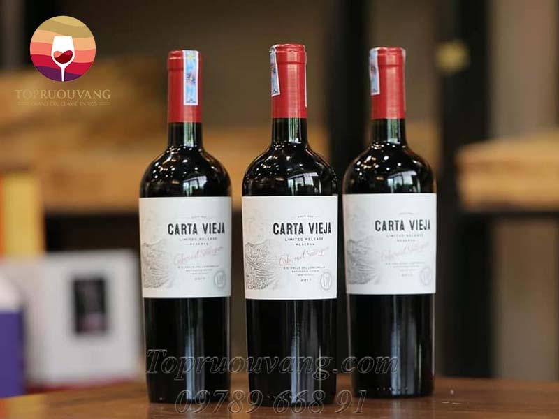 Rượu vang Carta Vieja Reserva Cabernet Sauvignon