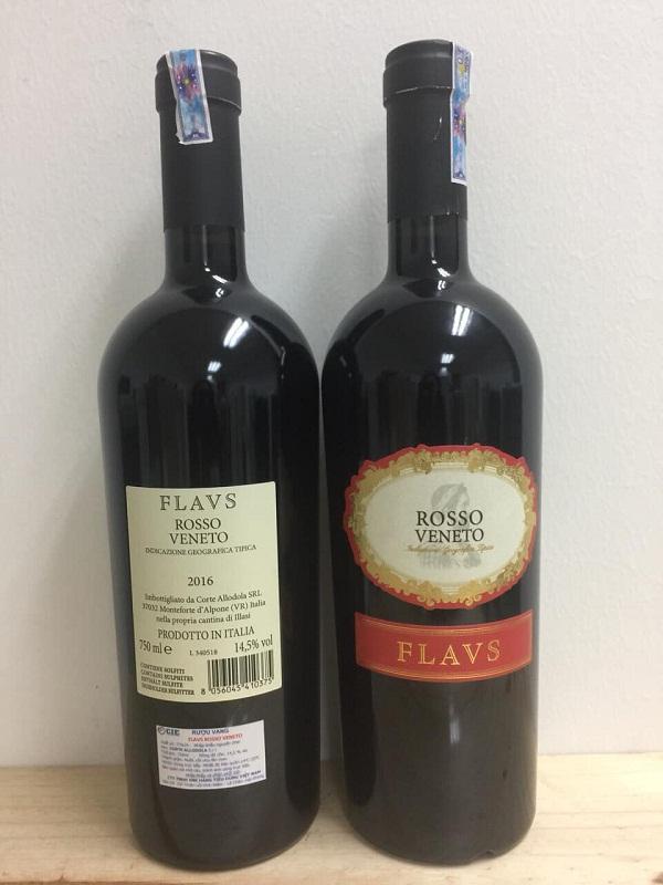 Rượu vang Rosso Veneto Flavs nhập khẩu giá tốt nhất tại Hà Nội