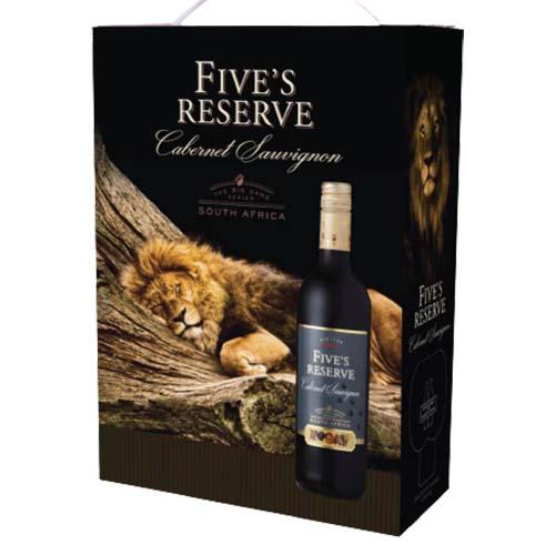 Rượu vang bịch Fives Reserve Cabernet Sauvignon 3L